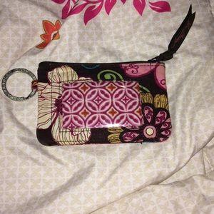 Vera Bradley ID Holder Coin Purse Keychain